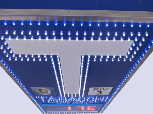 Insegna T per tabaccheria con sensore di temperatura e display a led