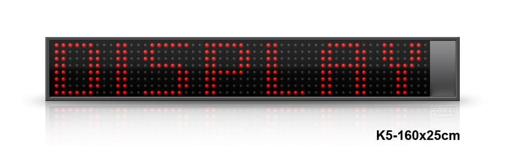 Display monoriga a led rosso