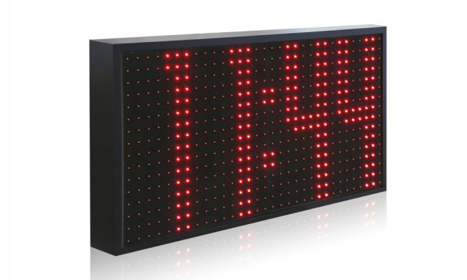 Orologio industriale a led